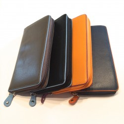 Leather Wallet large (mod. 1 zip)