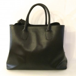 "Leather Handbag ""Prato"" Black"
