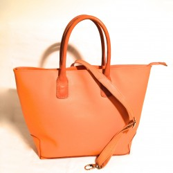 "Leather Handbag ""Toro"" Orange"