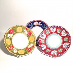 Solimene hand painted fruit plate