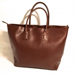 "Leather Handbag ""Toro"" Brown"
