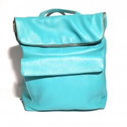 Lederhandtasche/Rucksack ZIP Himmelblau