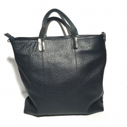 Leather Handbag Loredana Blue