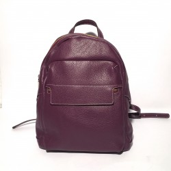 Leather Backpack Daniela 2 zips