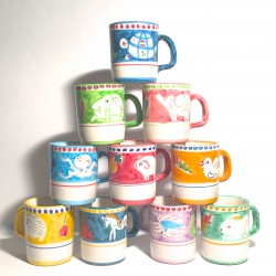 Solimene hand painted ceramic mug