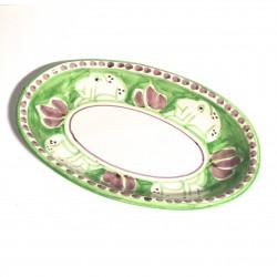 Solimene hand painted deep oval plate