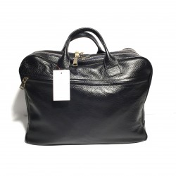 "Leather Business Bag ""Fabio"" Black"