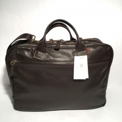"Leather Business Bag ""Fabio"" Dark Brown"