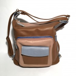 Leather Handbag/Backpack Napoli watergreen