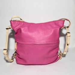 Leather Handbag/Backpack Pink