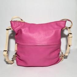 Lederhandtasche/Rucksack Pink