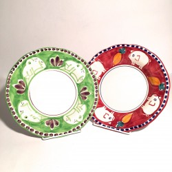 Solimene hand painted Pasta/ Soup plates
