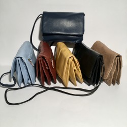 Leather shoulder bag Sofia