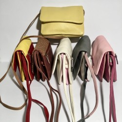 Leather shoulder bag Sofia Multicolor