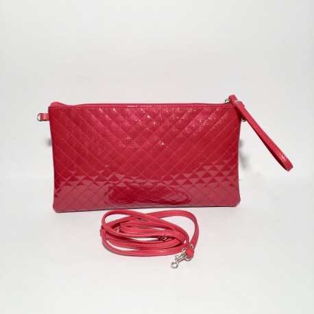 Leather shoulder bag Clara Red