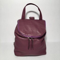 Leather Backpack Taormina Purple