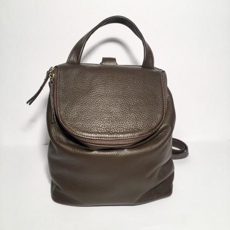 Leather Backpack Taormina Brown