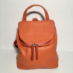 Leather Backpack Taormina Orange