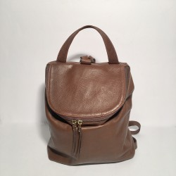 Leather Backpack Taormina Brown (mod b)