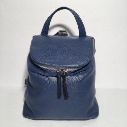 Leather Backpack Taormina Blue (mod a)