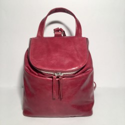 Leather Backpack Taormina dark red