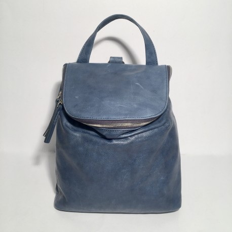 Leather Backpack Taormina Blue (mod b)