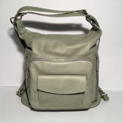 Lederhandtasche/Rucksack Napoli Wassergrün