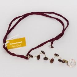 Floriana Iacovelli - Bordeauxrotes Halsreif mit Granat & Bergkristall