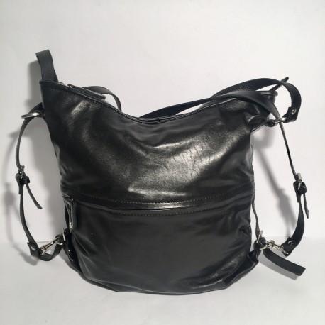 Leather Handbag/Backpack black