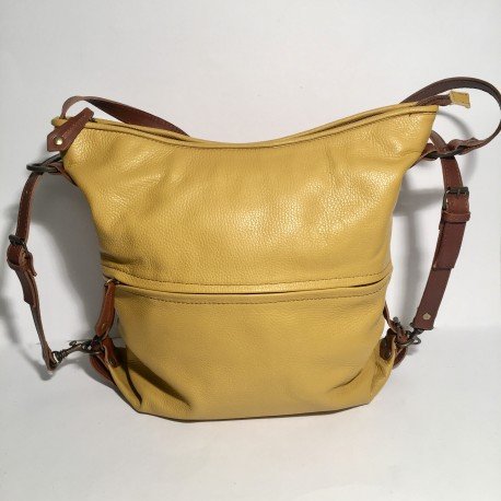 Leather Handbag/Backpack yellow
