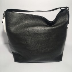 Leather Handbag Savona Black