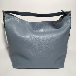 Leather Handbag Savona double blue
