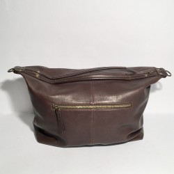 Leather Handbag Natalia Aubergine