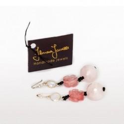 Floriana Iacovelli - Earrings with rose quartz & moonstone