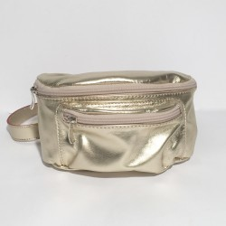 Leather Belly Bag Casual Gold