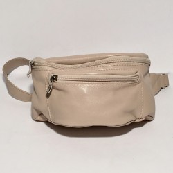 Leather Belly Bag Casual Cream