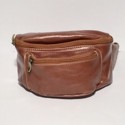 Leather Belly Bag Casual Brown