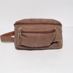 Leather Belly Bag Casual Suede brown
