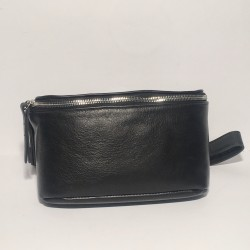 Leather Belly Bag Chic Black