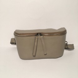 Leather Belly Bag Chic Mud Tone