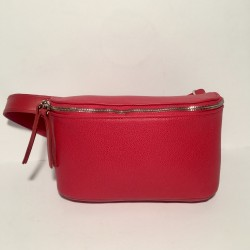 Leather Belly Bag Chic Red