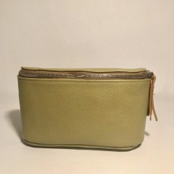 Leather Belly Bag Chic Green