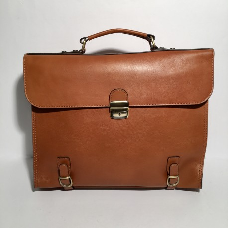 """Leather Business Bag for men  """"Maestro"""" Brown"""