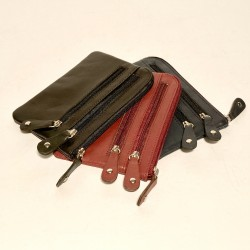 Leather Wallet/Key holder 3 Zip