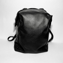 "Leather Backpack ""Sacco"" black"
