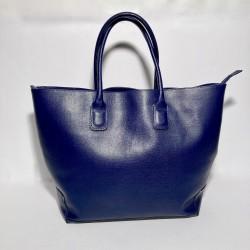 "Leather Handbag ""Toro"" Dark Blue"