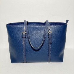Leather Handbag Valeria Blue