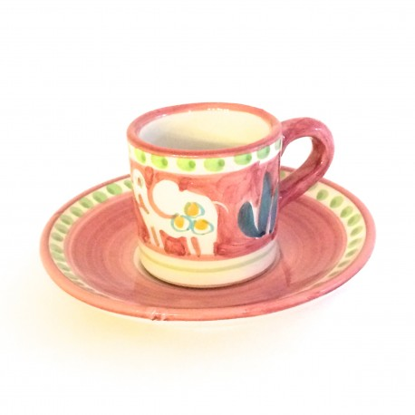 Solimene hand painted Espresso set (cup+plate)