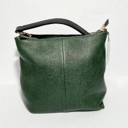 Leather Handbag  SARA green