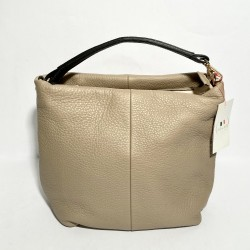 Leather Handbag  SARA cream